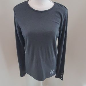 NWOT Michael Kors logo gray long sleeve sz S